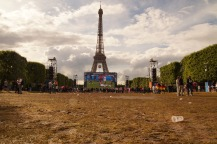 Die Fanzone in Paris.